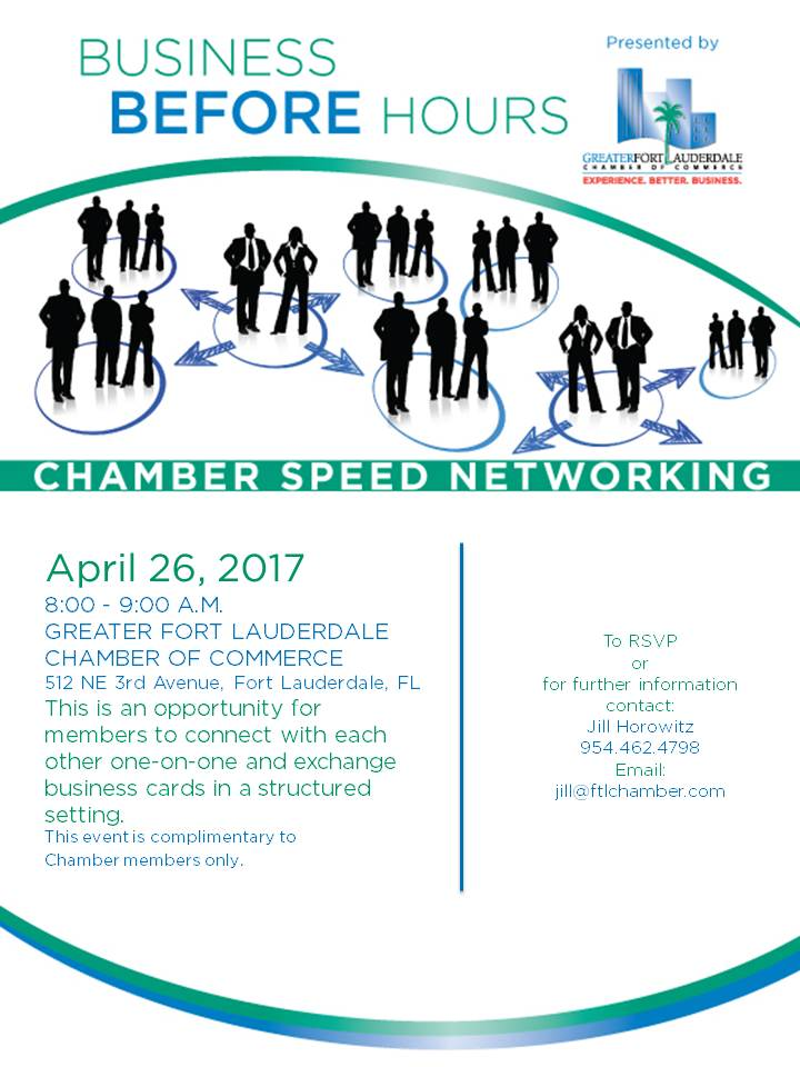 Ft. Lauderdale Chamber of Commerce - Speed Networking