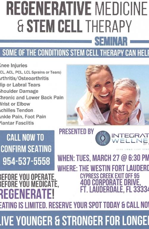 Ft  Lauderdale Chamber of Commerce - Regenerative Medicine